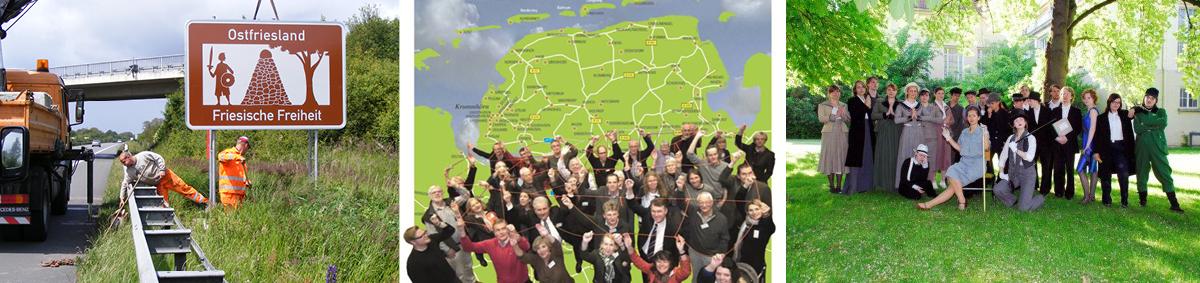 von links nach rechts: Foto Sabine Gronewold 4.6.2009 | Kulturnetzwerk Ostfriesland | Schultheater