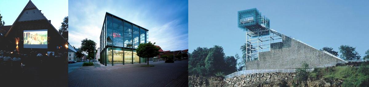 von links nach rechts: sofli 2013 groneick | Hubschraubermuseum, Foto: Volker Kreidler | Steinzeichen