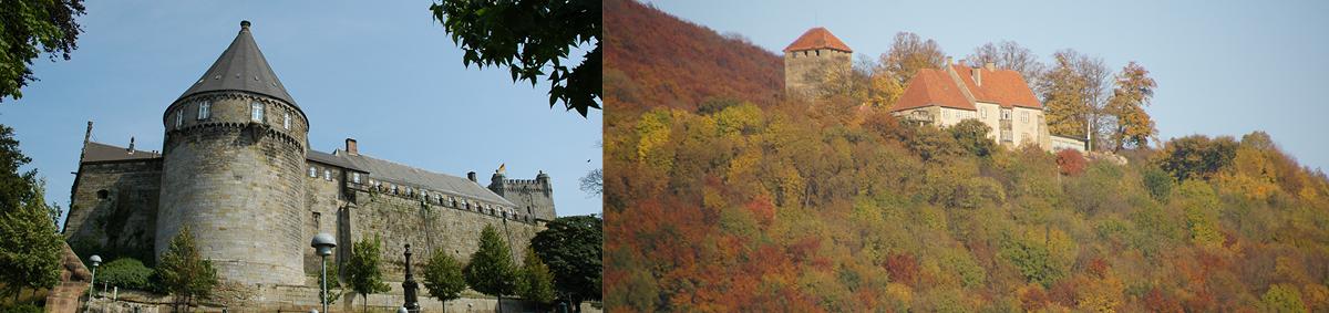 Von links nach rechts: Kloster Schinna | Landschaftsverband Weser-Hunte, Granitklippe Okertal_George | Schaumburger Landschaft, Ausgrabung Hohnhorst | Schaumburger Landschaft (dies ist ein Beispieltext)
